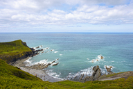 Great Britain, England, Cornwall, near Bude, rocky coast near Morwenstow - SIEF07613