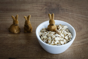 Oat flakes in bowl, Easter decoration - EVGF03272