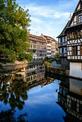 France, Strasbourg, half-timbered houses at river III - KIJF01729
