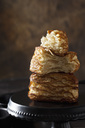 Stack of pretzel pastry on cake stand - CSF28551