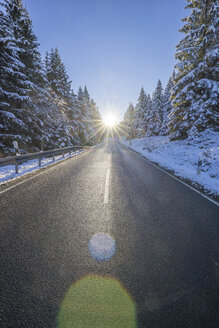 Germany, Lower Saxony, Harz National Park,  country road in the morning - PVCF01197
