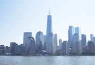 USA, New York, Hudson River, Manhattan, High-rise buildings and One World Trade Center, cityview - HLF01071