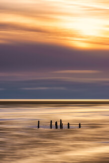 Great Britain, Scotland, Solway Firth, mud flats, sunset, abstract - SMAF00891
