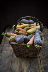 Winter vegetables, carrot, beetroot, potato and parsnip - LVF06475