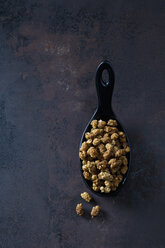 Spoon of dried mulberries on rusty metal - CSF28619
