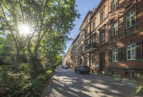 Germany, Hesse, Wiesbaden, Row of houses in city center - PVCF01222