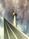 Germany, Berlin, Alexanderplatz, TV tower - GWF05347