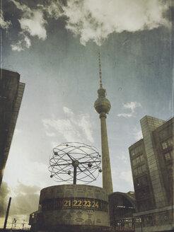 Germany, Berlin, Alexanderplatz, TV tower - GW05356