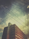 Germany, Berlin, architecture and power lines - GWF05359