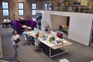 People working in big modern office - WESTF23883