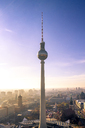Germany, Berlin, Berlin-Mitte, Berlin TV Tower in the morning - PUF00989