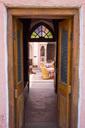 India, Rajasthan, Alwar, Heritage Hotel Ram Bihari Palace, courtyard - NDF00722