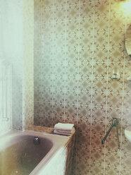 vintage style bathroom with bathtub in residential house - GWF05368