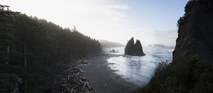 USA, Washington State, Olympic National Park, Seastack at Rialto beach - STCF00367