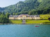 Austria, Salzkammergut, Salzburg State, Lake Wolfgangsee, St. Wolfgang, Hoehere Lehranstalt fuer wirtschaftliche Berufe and Ferienhort - AMF05585
