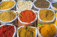 India, Goa, Curry Spices at Mapsa Market - JHEF00033