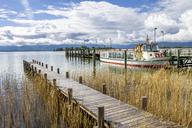 Germany, Bavaria, Gstadt am Chiemsee, jetty - PUF01050