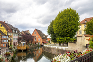 France, Colmar, Old town, half-timbered houses in Little Venice - PUF01053