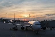 Germany, Bavaria, Munich, Airport at sunset - FOF09572