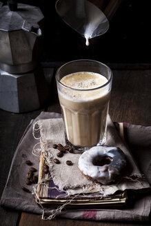 Latte Macchiato with donut - SBDF03427