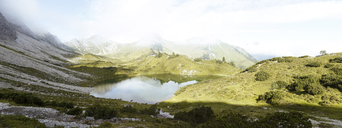 Austria, South Tyrol, panoramic view of mountain lake - FKF02853