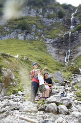 Austria, South Tyrol, family hiking - FKF02883