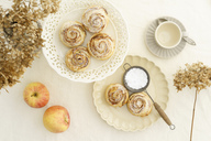 Home-baked apple tart with rose pattern - ECF01947
