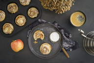 Home-baked apple tart with rose pattern - ECF01953