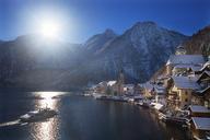 Austria, Upper Austria, Salzkammergut, Hallstatt, Lake Hallstatt - WWF04007