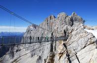 Austria, Styria, Salzkammergut, Dachstein massif, suspension bridge - WWF04016