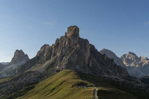 Italy, Alps, Dolomites, Passo di Giau in the morning - RPSF00099