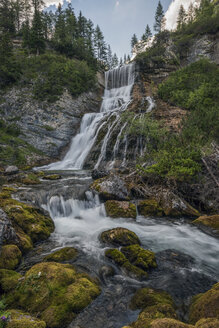Italy, Alps, Dolomites, Waterfall of fiames - RPSF00105