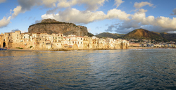 Italy, Sicily, Panoramic view of Cefalu - EPF00481