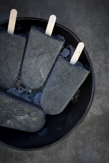 Homemade yoghurt icecream with activated coal - LVF06584