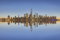 USA, New York City, Manhattan, New Jersey, cityscape - RPSF00126