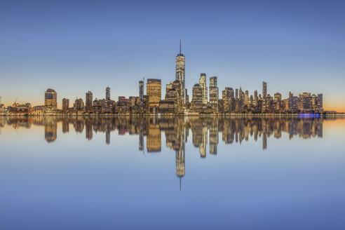 USA, New York City, Manhattan, New Jersey, cityscape - RPSF00126