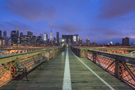 USA, New York City, Brooklyn Bridge at night - RPSF00144
