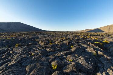 Reunion, Reunion National Park, Shield Volcano Piton de la Fournaise, Caldera Enclos Fouque and Rempart, lava field, AA lava over pahoehoe lava - FOF09644