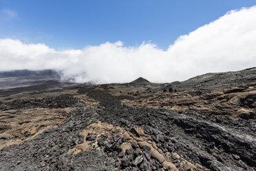 Reunion, Reunion National Park, Shield Volcano Piton de la Fournaise, Caldera Enclos Fouque and Rempart, lava field, AA lava over pahoehoe lava - FOF09653