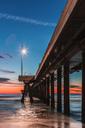 USA, California, Los Angeles, Venice Beach, Venice Beach Pier at sunset - WVF00893