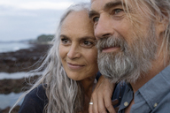 Portrait of a handsome senior couple at the sea - SBOF01047