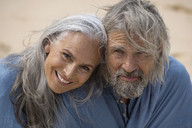 Portrait of a handsome senior couple at the sea - SBOF01086