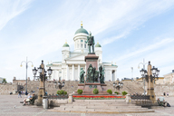 Finland, Helsinki, Helsinki Cathedral, Statue of Alexander II - CST01562