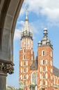 Poland, Krakow, Old Town, Main Square, St Mary Basilica - CSTF01583