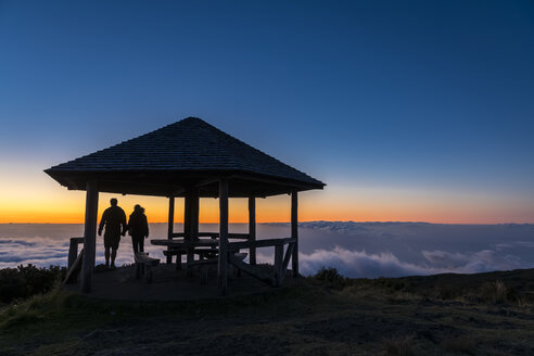 Reunion, Reunion National Park, Maido viewpoint, View from volcano Maido, picnic place to sea of clouds and sunset - FOF09670
