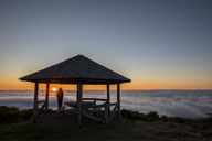 Reunion, Reunion National Park, Maido viewpoint, View from volcano Maido, picnic place to sea of clouds and sunset - FOF09676