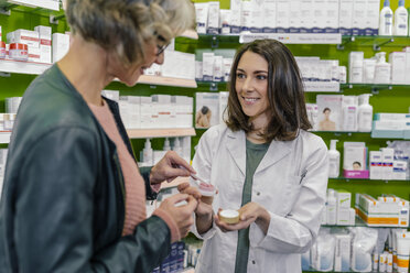 Customer testing cosmetics in pharmacy - MFF04294