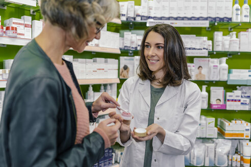 Customer testing cosmetics in pharmacy - MFF04294