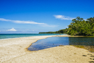 Costa Rica, Limon, Beach landscape in the national park of Cahuita - KIJF01860