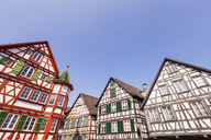 Germany, Baden-Wurttemberg, Black Forest, Schiltach, Half-timbered houses in the old town - WDF04248